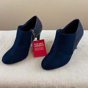 Dexflex Comfort Booties Navy Blue Size 6.5 Wide